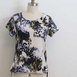 French Connection, silky t-shirt abstract print S